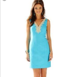 Lilly Pulitzer Blue Bentley Shift Dress, sz 4